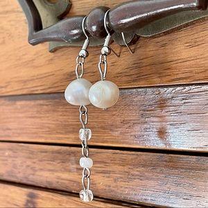 Asymmetrical Freshwater Pearl Earrings